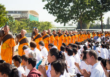 Pathum Thani, THAILAND -January, 2016 : 1,131 Monks from Wat Phr Royalty Free Stock Photo