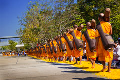 Pathum Thani, THAILAND -January, 2016 : 1,131 Monks from Wat Phr Stock Photo