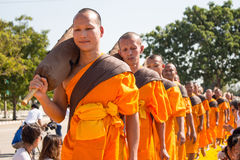 Pathum Thani, THAILAND -January, 2016 : 1,131 Monks from Wat Phra Stock Photography