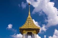 Pathum Thani, THAILAND - OKTOBER 23.2017: De Koninklijke verdienste-Makende Ceremoniespot als voorbereiding op HM de recente Koni Royalty-vrije Stock Fotografie