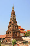 Pathum Wadi. Tower Pagoda is the oldest pagoda in  Wat Phra Lampoon Lamphun Thailand Stock Photo