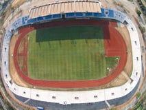 PATHUMTHANI, TAILANDIA 16, 2015: Vista aérea de Thupatemee Stadiu imagen de archivo