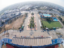 PATHUMTHANI ,THAILAND 16 ,2015: Aerial view of Thupatemee Stadiu Stock Photo