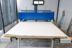 Pathumthani, Thailand - Feb 27, 2017 : Large heat press machine for fabric business in printing factory at Lumlukka, pathumthani royalty free stock photos