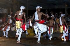 Pathuru Dancers perform at the Esala Perahera in Kandy, Sri Lanka. Royalty Free Stock Photography