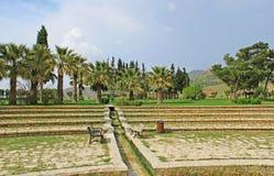 Pathwalk near the pool in Pamukkale resort, Turkey Royalty Free Stock Image