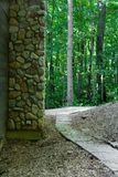 Pathway. A pathway into the woods in a metro park near a large city Royalty Free Stock Images