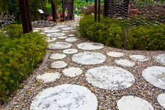 Pathway. Rocky Pathway in the Beautiful Garden Royalty Free Stock Photo