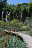 Plitvice lakes pathway , Croatia Royalty Free Stock Images