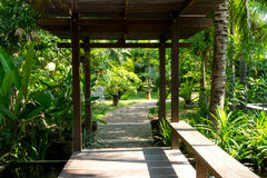 Pathway. In the garden relax Stock Photography