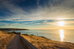 Pathway along the coast Royalty Free Stock Photos