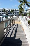 Pathway along port. Longview of pathway alongside of port in keywest Royalty Free Stock Images