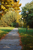 Pathway in autumn park Royalty Free Stock Photos
