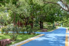 Pathway in a beautiful park Royalty Free Stock Photography