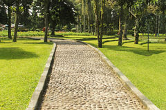Pathway in the botanical garden,bali Stock Photos