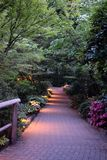 Pathway at Buchart Gardens stock photography