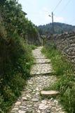 Pathway in the city of Berat, Albania Stock Image