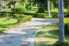 Pathway in city park Stock Image