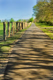 Pathway in countryside Stock Images