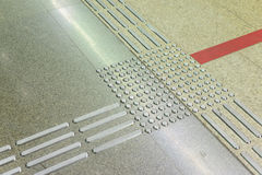 Pathway footplate for the Blind.  Stock Photos