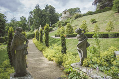 Pathway through Formal English Garden. Stock Images