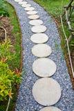Pathway in garden Stock Image