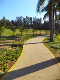 Pathway in a garden. Beautiful Lawn and pathway in Nehru Park, New Delhi, India Royalty Free Stock Photo