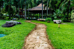 Pathway in the park Royalty Free Stock Image