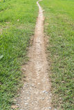 Pathway in the green lawn Royalty Free Stock Photos