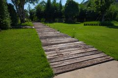 Pathway with green Royalty Free Stock Photos
