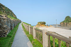 Pathway in Ho Ping Island Hi Park in Keelung,Taiwan Stock Photos