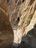Pathway home. Pathway to a pueblo ladder into a home at Bandolier National Monument Stock Image