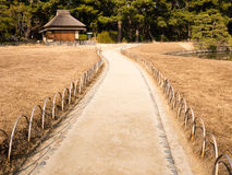 Pathway in a Japanese garden Royalty Free Stock Images