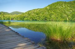 Pathway in the lake Royalty Free Stock Images