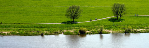 Pathway by lake or river Stock Photography