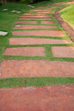 Pathway. Landscaping in the garden. The path in the garden Royalty Free Stock Photography