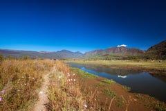 Pathway. Lashihai lake, Yunnan Province, China Stock Image
