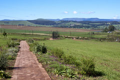 Pathway Leading to Metal Scuplture of Nelson Mandela at Howick Stock Image