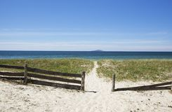 Pathway leading to the ocean. Royalty Free Stock Photo
