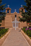 Pathway leading to San Francisco de Asis Church Stock Photography