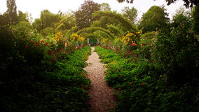 Pathway of Monet's Garden in Giverny, France Stock Images