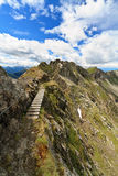 Pathway on Monzoni mountain Stock Images