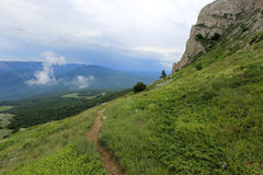 Pathway in mountains Royalty Free Stock Photo