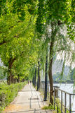 Pathway next to Imperial palace in Tokyo, Japan Royalty Free Stock Photos