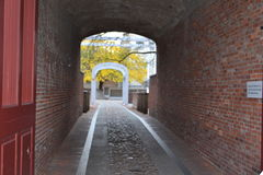 Pathway through the old city royalty free stock image