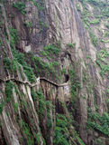 The pathway over the precipice Huang Shan Royalty Free Stock Photos