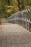 Pathway in park. In the autumn Stock Photos