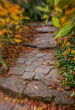 Pathway in a park in autumn Royalty Free Stock Images