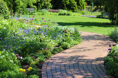 Pathway in a park Stock Image