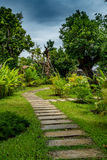 Pathway in park Royalty Free Stock Photos